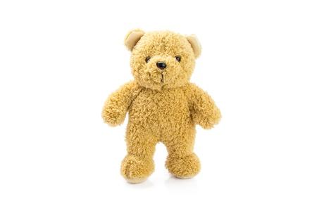 isolate bear doll on white background