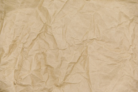 Paper  - wrinkled brown paper sheet  photo