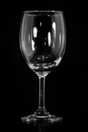 Empty wine glass  isolated on a Black background Stock Photo - 16696957