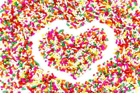 Sugar sprinkle dots, decoration for cake and bekery Stock Photo