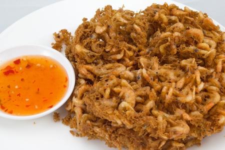 shrimp fried isolate on white background