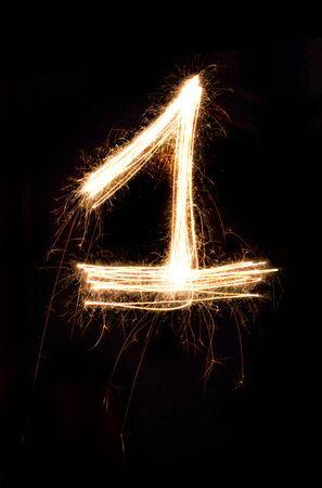 sparkler firework light number