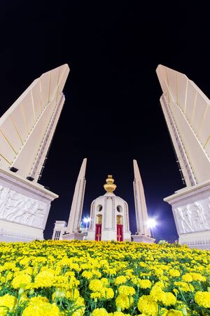 Thailand Democracy Monument at Night Scene Stock Photo