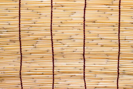 Old Bamboo curtain background photo