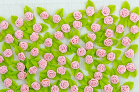 Pink fabric flower wallpaper Stock Photo - 17469080
