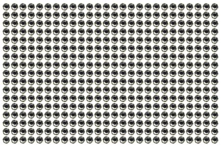 Black and White Fake Diamon on White background Stock Photo - 17469072