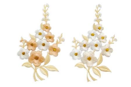Isolate Flower Neckline embroidery fashion Stock Photo
