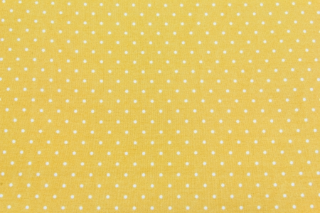 Yellow and White Tiny Distressed Polka Dots Background