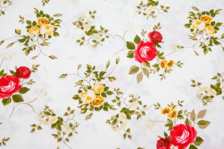 Fragment of colorful retro tapestry textile pattern with floral ornament useful as background Stock Photo - 17469111