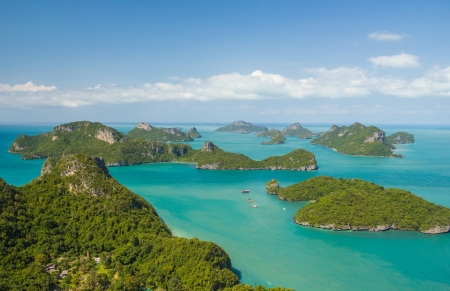 angthong: Landscape bird eye view of angthong national marine park ko samui thailand