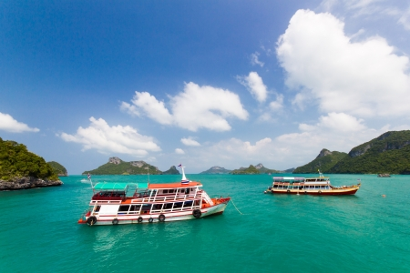 A ship tour at Angthong national marine park close to Koh Samui, Thailand