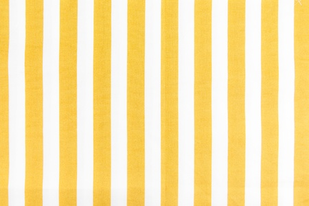 Yellow Line on white fabric background texture