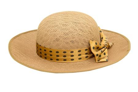 brim: Beautiful Weaving hat isolated on white background