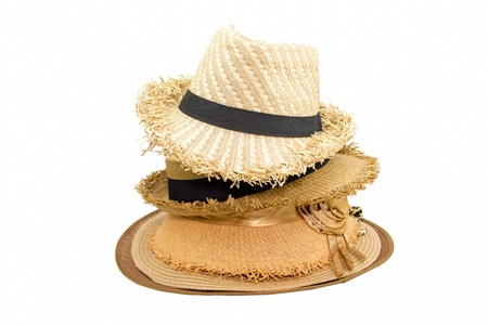 Beautiful Weaving hat isolated on white background