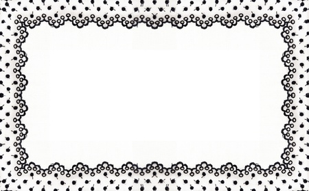 Frame made ​​of floral lace with empty spaces  photo