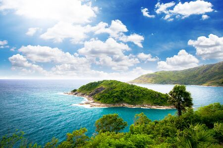 thep: Illustration,Island view from Laem Phrom Thep, Phuket
