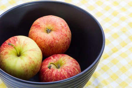Red Apples in Black Bowl