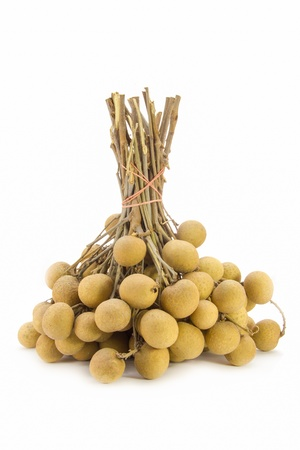 A bunch of Longan isolate on white