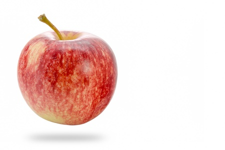 Red apples isolate on white background