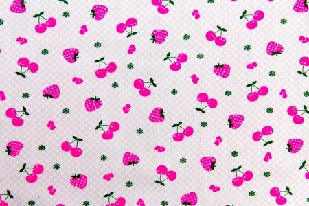 Seamlesspink strawberry Fabric pattern