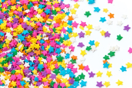 Colorful Sugar Sprinkles Background photo