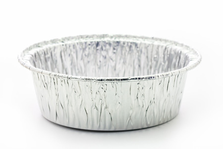 foil cup for bakery cake Stock Photo