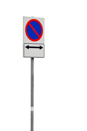 abstain: Red forbidden traffic sign on white Stock Photo