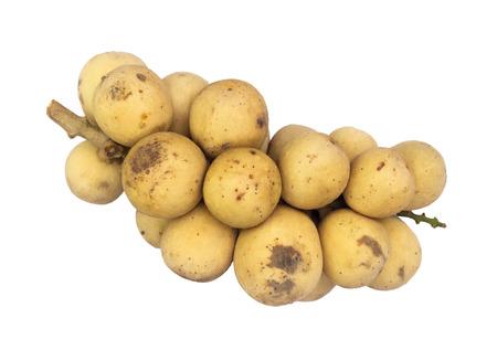 Longkong is fruit Isolated on white background photo