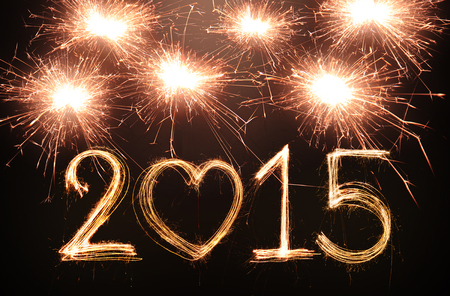Happy new year 2015 written with Sparkling figures photo