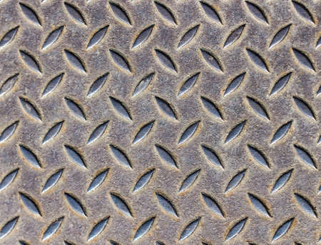 Grunge Rusty metal plate steel background texture photo