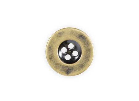Metal sewing buttons isolate on white background photo