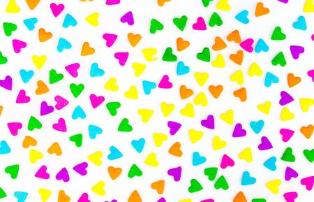 sprinkles: Colorful candy sprinkles Background Texture Stock Photo