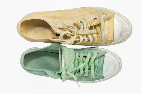 does: Does not match yellowand green  sneakers on white background