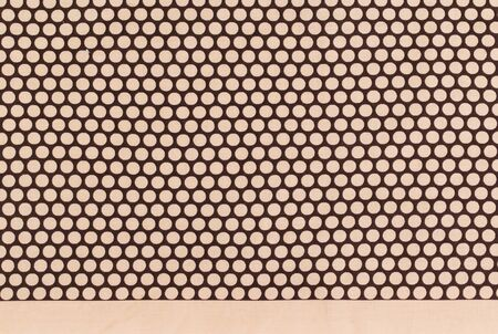 polka dot fabric: brown dots over dark brown Polka dot fabric background and texture