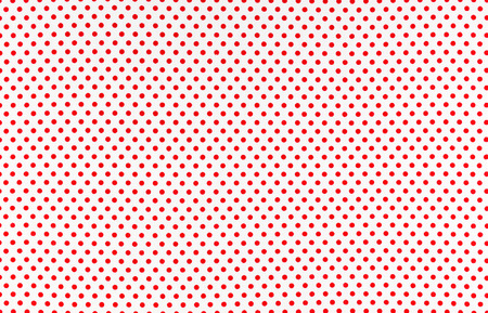 polka dot fabric: Red dots over white Polka dot fabric background and texture Stock Photo