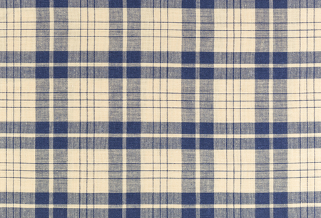 linen fabric: Plaid textile fabric background and texture