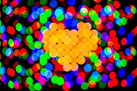 hape: Valentines composition of the heart bokeh background Stock Photo
