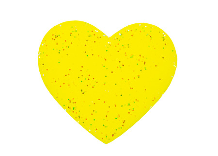 yellow heart: yellow Heart shapes isolate on white background