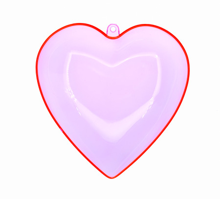 heart shaped box: Red heart shaped box container isolate on white