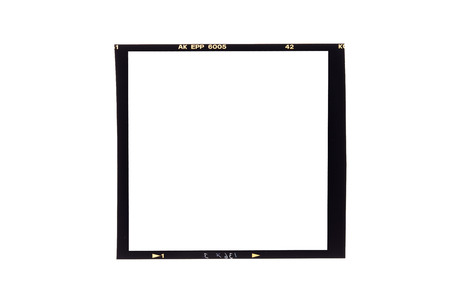 film borders, Blank medium format (6x6) color film frame