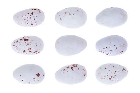 speckle: Candy coated chocolate Easter eggs Stock Photo