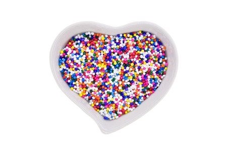 sprinkle: Sugar sprinkle in the heart container cup