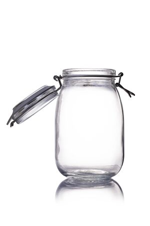 canning: empty canning jar on a white background