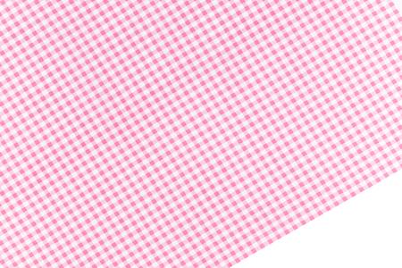 Rosa und weiß kariertes Textil-Stoff-Hintergrund. Standard-Bild