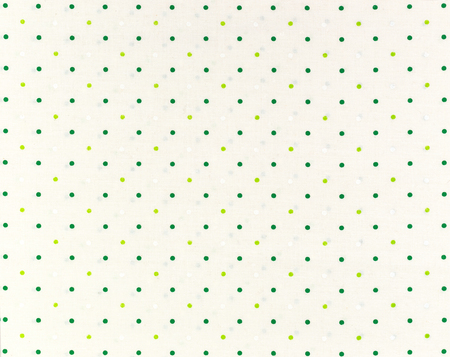polka dot fabric: Green dots over white Polka dot fabric background and texture Stock Photo