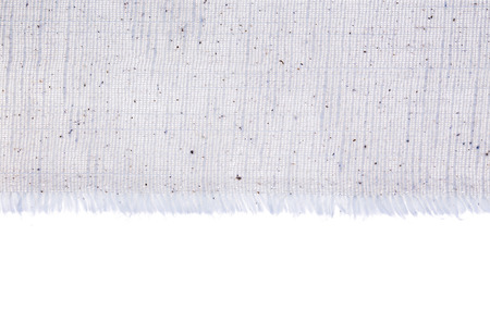 canvas edge fabric texture on white background