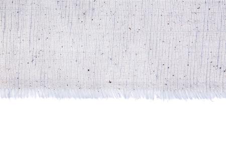 edge: canvas edge fabric texture on white background