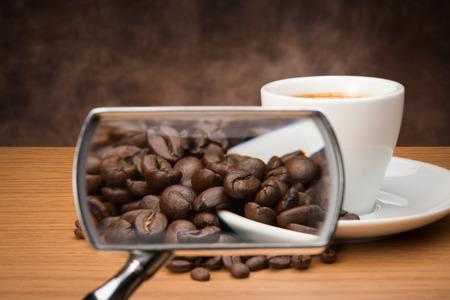 Coffee on mirror photo