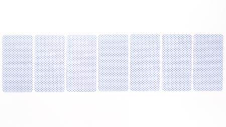 白い背景上に分離されてバック タロット カード 写真素材