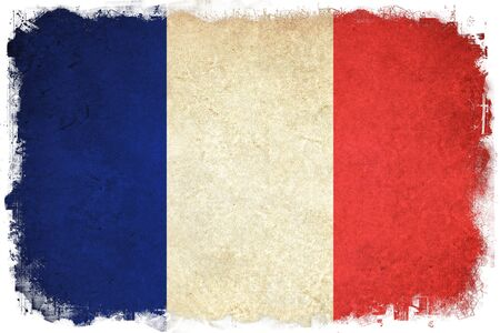Grunge flag of France French country